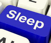 Sleep Computer Key Showing Insomnia Or Sleeping Disorders Online — Stock Photo