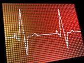 Heart Rate Monitor Showing Cardiac And Coronary Health — Stock Photo