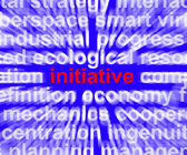 Initiative Word Meaning Leadership Inventiveness And Being Proac — Stock Photo
