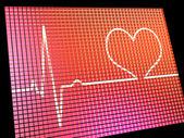 Heart Rate Display Monitor Showing Cardiac And Coronary Health — Stock Photo