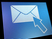 Email Icon Being Selected On Screen Showing Emailing Or Contacti — Stock Photo