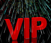 VIP Word With Fireworks Showing Celebrity Or Millionaire Party — Stock Photo