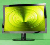 TV Monitor With Vortex Picture Representing High Definition Tele — Stock Photo