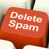 Delete Spam Key For Removing Unwanted Email — Stock Photo