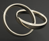 Silver Or White Gold Rings Representing Love Valentines And Roma — Stock Photo
