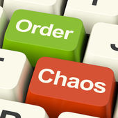 Order Or Chaos Keys Showing Either Organized Or Unorganized — Foto de Stock