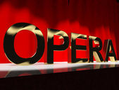 Opera Word On Stage Showing Classic Operatic Culture And Perform — Zdjęcie stockowe