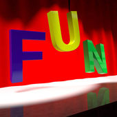 Fun Word On Stage For Enjoyment And Happiness — Stock Photo