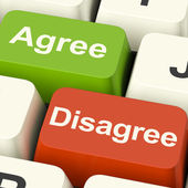 Disagree And Agree Keys For Online Poll Or Voting — Stock Photo