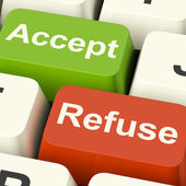 Accept And Refuse Keys Showing Acceptance Or Denial — Stock Photo