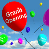 Grand Opening Balloons Showing New Store Launch — Stock Photo