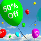 Balloon Showing Sale Discount Of Fifty Percent — Stock Photo