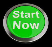 Start Now Button Meaning To Commence Immediately — Stock Photo