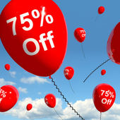 Balloon Showing Sale Discount Of Seventy Five Perce — Stock Photo