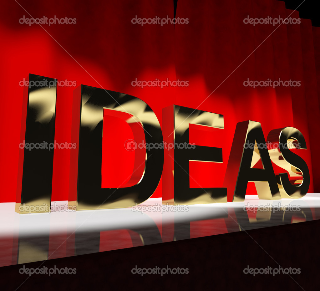 Ideas Word On Stage Shows Concepts Creativity or Acting — Stock Photo #10448635