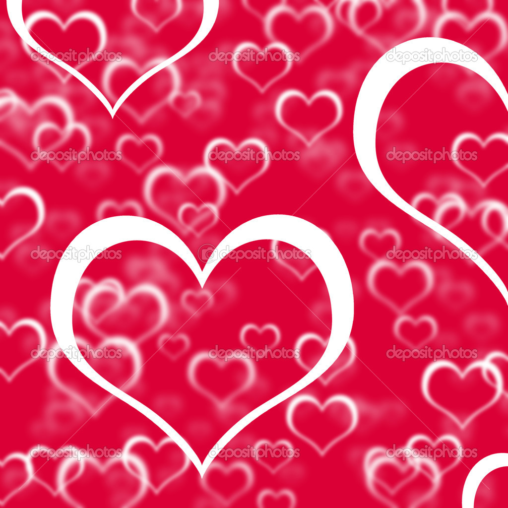 Red Hearts Background Showing Love Romance And Valentine  Stock Photo #10449985