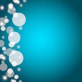 Bokeh modré pozadí s prázdnou kopii prostoru — Stock fotografie