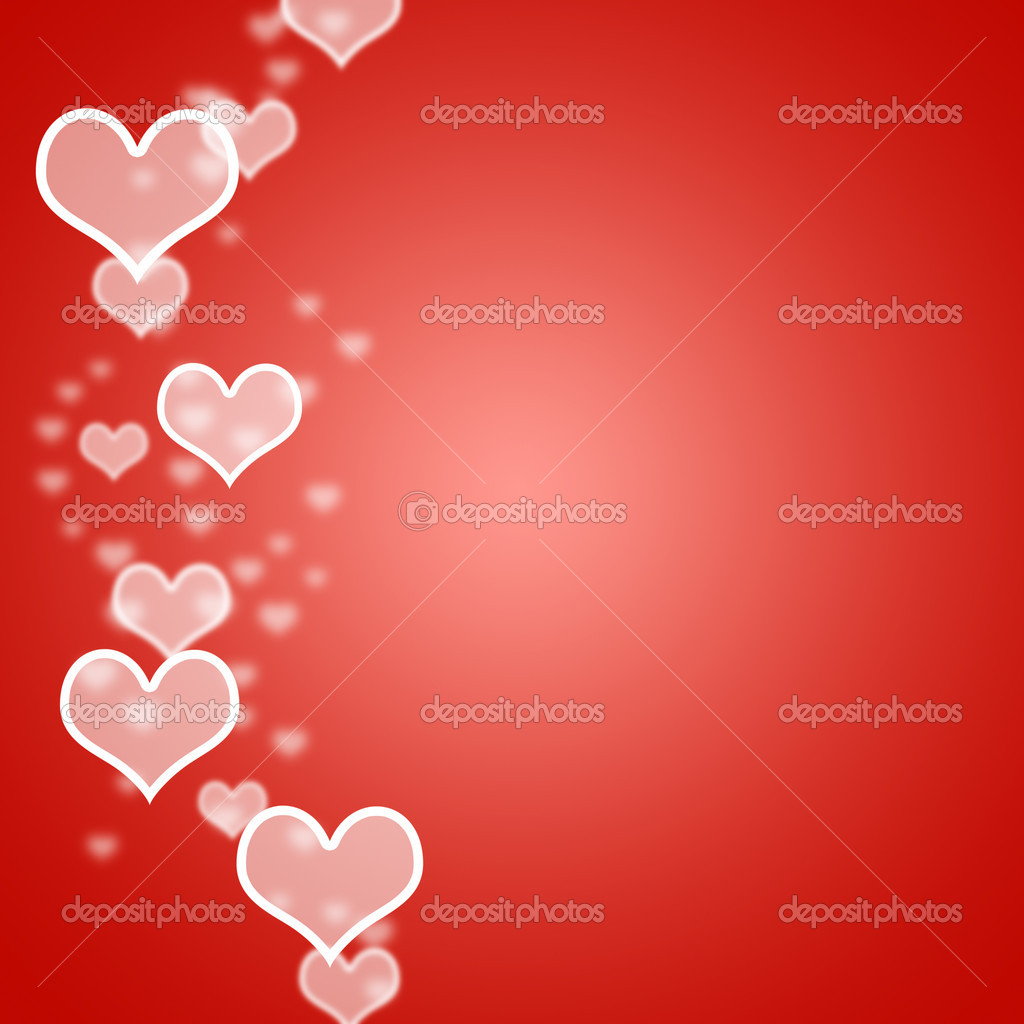 Red Hearts Bokeh Background With Blank Copyspace Shows Love And Romance — Stock Photo #10450091