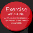 Exercise Definition Button Showing Fitness Activity And Working — Stock Photo