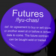 Futures Definition Button Showing Advance Contract To Buy Or Sel - Stock Photo
