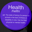 Health Definition Button Showing Wellbeing Fit Condition Or Heal — Stock Photo