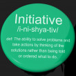 Stock Photo: Initiative Definition Button Showing Leadership Resourcefulness