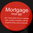 Stock Photo: Mortgage Definition Button Showing Property Or Real Estate Loan