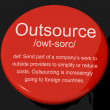 Outsource Definition Button Showing Subcontracting Suppliers And — Foto de stock #10583911