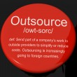 Outsource Definition Button Showing Subcontracting Suppliers And — Foto Stock #10583911
