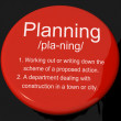 Stock Photo: Planning Definition Button Showing Organizing Strategy And Schem