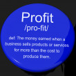 Profit Definition Button Showing Income Earned From Business — Stock Photo #10583926