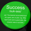 Success Definition Button Showing Achievements Or Attainment Of - Stock Photo