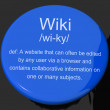 Wiki Definition Button Showing Online Collaborative Community En — Stock Photo #10584021