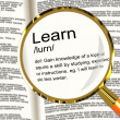 Stock Photo: Learn Definition Magnifier Showing Knowledge Gained And Study