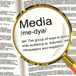 MediDefinition Magnifier Showing Ways To Reach Audience — Stock Photo #10584373