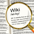 Wiki Definition Magnifier Showing Online Collaborative Community — Stock Photo #10584516