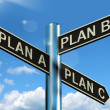 Plan A B or C Choice Showing Strategy Change Or Dilemma — Stock Photo