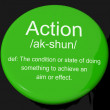 Stock Photo: Action Definition Button Showing Acting Or Proactive