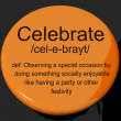 Stock Photo: Celebrate Definition Button Showing Party Festivity Or Event