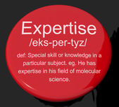 Expertise Definition Button Showing Skills Proficiency And Capab — Stock Photo