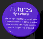 Futures Definition Button Showing Advance Contract To Buy Or Sel — Stock Photo