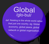 Global Definition Button Showing Worldwide International Or Cont — Stock Photo