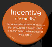 Incentive Definition Button Showing Encouragement Enticing And M — Stock Photo
