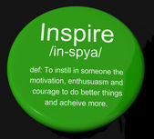 Inspire Definition Button Showing Motivation Encouragement And I — Stock Photo