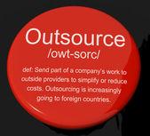 Pulsante definizione mostrando subfornitura fornitori in outsourcing e — Foto Stock
