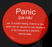 Panic Definition Button Showing Trauma Stress And Hysteria — Stock Photo