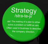 Strategy Definition Button Showing Planning Organization And Lea — Stock Photo