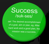 Success Definition Button Showing Achievements Or Attainment Of — Stock Photo