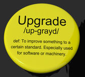 Upgrade Definition Button Showing Software Update Or Installatio — Stock Photo