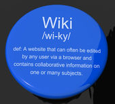 Wiki Definition Button Showing Online Collaborative Community En — Stock Photo